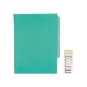 E356 三格膠文件套 A4 綠色