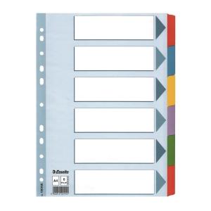Esselte 易達卡紙顏色索引分類 6層