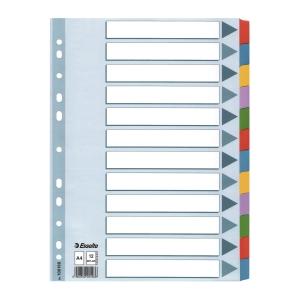 Esselte 易達卡紙顏色索引分類 12層