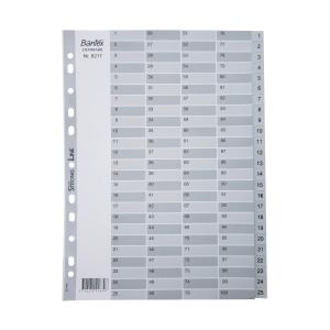 Bantex A4 PP Dividers Index 1-100