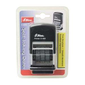 Shiny S-400 Self-Inking Dater Stamp Black 4mm