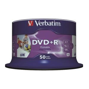 Verbatim DVD+R 4.7GB Printable - Spindle Pack of 50