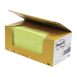 Post-it 656-18EP Yellow Notes Value Pack 2 inch x 3 inch - Box of 18
