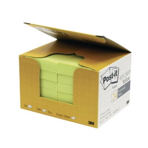 Post-it 653-24EP Yellow Notes Value Pack 1-3/8 inch x 1-7/8 inch - Box of 24