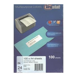 Unistat 多用途標籤 U4262 64.6x33.8毫米 每張24個標籤