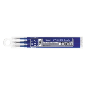 PILOT FriXion Ink Refill 0.7mm Blue - Pack of 3