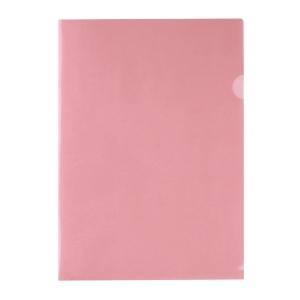 E310 膠文件套 A4 粉紅色 - 每包12個