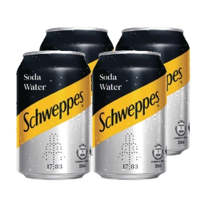 Schweppes Soda Water 330ml - Pack of 4