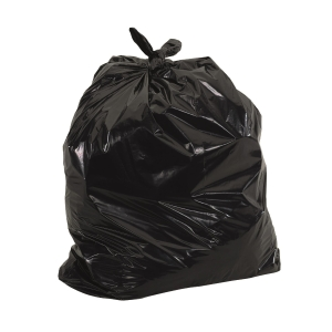 Plastic Litter Bag 32 inch x 40 inch Black 60 micron - Pack of 50