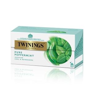 TWININGS Pepper Mint Tea Bags - Box of 25