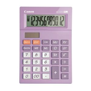 佳能 AS-120V 小型卓面計算機 紫色 12位