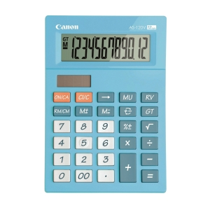 Canon AS-120V Desktop Calculator 12 Digits Blue