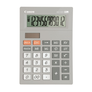 Canon AS-120V Desktop Calculator 12 Digits Grey