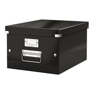利市 Click & Store 儲存盒 黑色 (適合存放A4文件)
