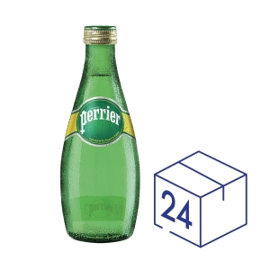 Perrier Sparkling Mineral Water 330ml - Pack of 24