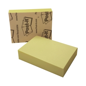 Post-it 653 Yellow Notes 1-3/8 inch x 1-7/8 inch