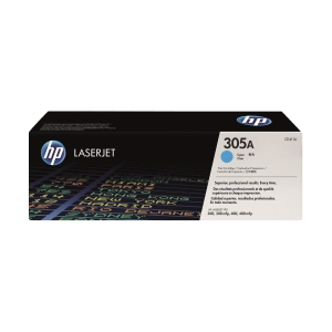 HP CE411A LaserJet Toner Cartridge (305A) - Cyan