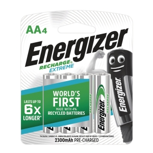 Energizer Extreme Rechargeable Batteries AA - Pack of 4