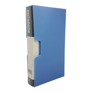 Data Base Name Card Book 240 Pockets Blue