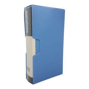 Data Base Name Card Book 360 Pockets Blue
