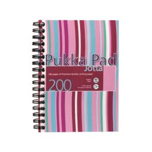 Pukka Pad Stripes 線圈筆記簿 粉紅色 A5