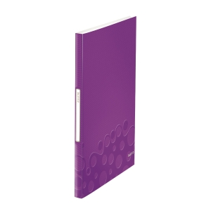 Leitz WOW Display Book 40 Pockets A4 Purple