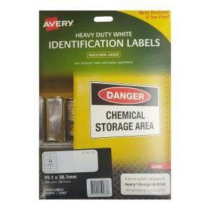 艾利 L7063 防水鐳射/影印標籤 99.1x38.1毫米 每包350個標籤