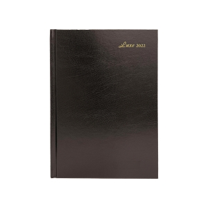 LUXE 52C DIARY A5 2D/P BLK