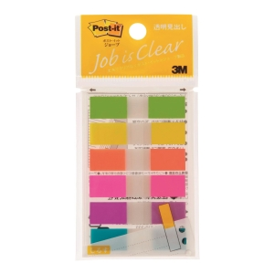 Post-it 683NEH Assorted Neon Color Flags 0.5 inch x 1.75 inch