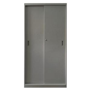 三層灰色雙移門鋼櫃