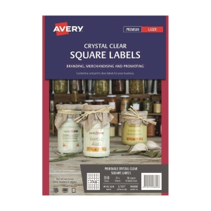 Avery L7125/980020 Clear Square Label 35 x 35mm - Pack of 350 Labels