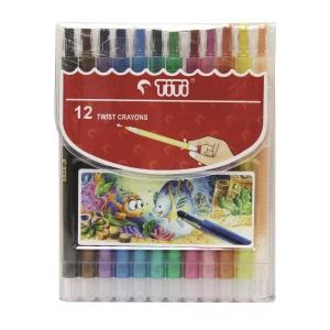 天天 旋轉腊筆 12色套裝