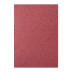 皮紋釘裝封面咭 A4 紅色 - 每包100張