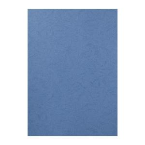 皮紋釘裝封面咭 A4 深藍色 - 每包100張