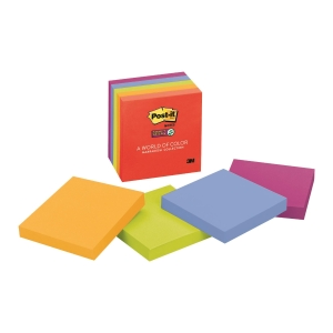 Post-it 654-5SSAN Super Sticky Notes (Marrakech) 3x3 inch - Pack of 5