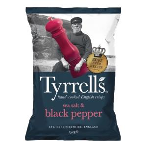 Tyrrell s 手工製海鹽及黑椒味薯片 150克