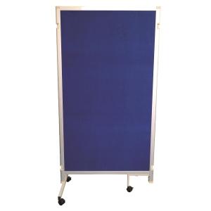 組合式告示板屏風 藍色