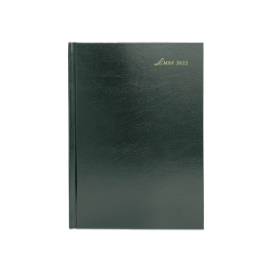 LUXE 52C DIARY A5 2D/P GREEN