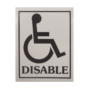 DISABLE標示貼紙
