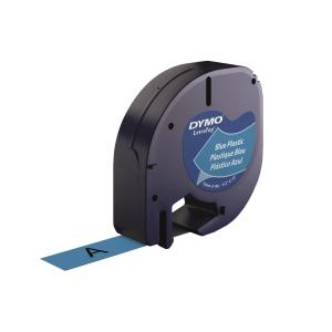 DYMO LetraTag (膠) 標籤帶 12毫米 x 4米 黑色字藍色底