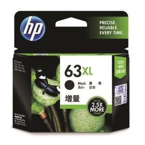 HP F6U64AA 63XL 墨水盒 黑色