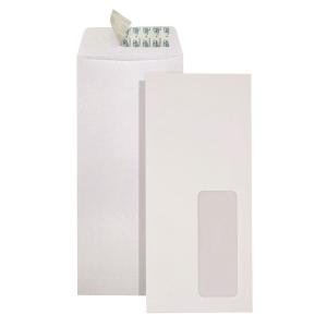 直向白色自粘貼信封連窗9 x 4吋 - 每包20個