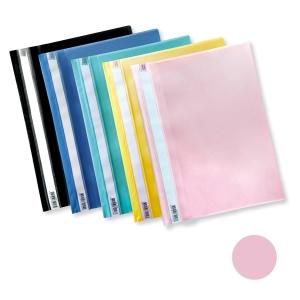Esselte 易達 A4 透明文件夾 粉紅色
