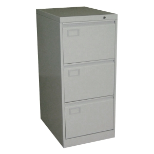 三斗鋼文件櫃(灰色) 高102 x 闊45.8 x 深63.5厘米