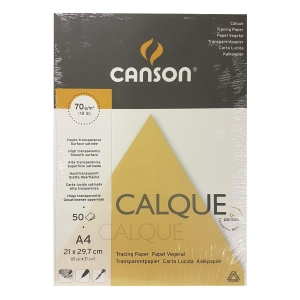 Canson A4 Tracing Paper 70gsm - Pack of 50 Sheets