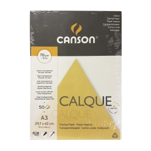 Canson A3 Tracing Paper 70gsm - Pack of 50 Sheets
