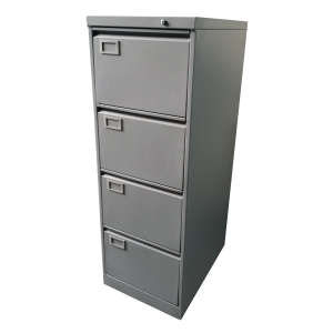 四斗鋼文件櫃(灰色) 高132.1 X 闊458 X 深635厘米