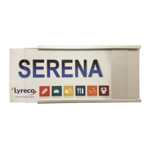 Metal Name Plate Holder For Partition