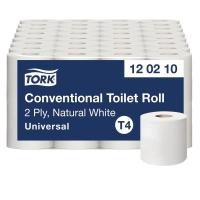 TOILETPAPIR T4 NATUR 2-LAG UNIVERSAL TORK 120210 SÆK A 64 RULLER