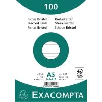KARTOTEKKORT A5 LINIERET 14,8 X 21,0 CM BUNDTET A 100 STK.